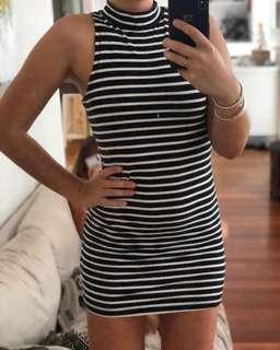 Minkpink striped tunic dress