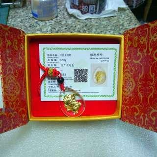 生肖水晶金箔項鍊 Crystal/Gold Foil/Necklace