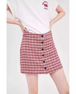 Europe and United States wind 2018 spring twill tweed mini skirt