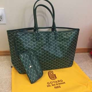 Green Goyard Saint Louis GM Bag