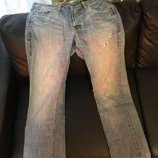 🚚 微復古低腰牛仔褲