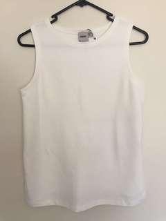 Asos white top size 6