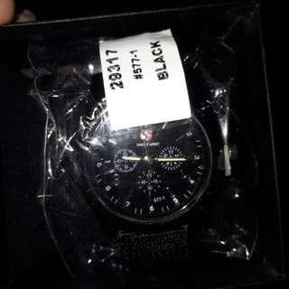 Swiss army black watch
