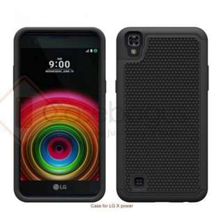 SOFT AND HARD CASE COVER LG X POWER HITAM