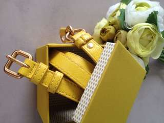Marc Jacobs Yellow Large Belt