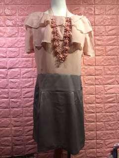 ❤️[全新】正韓雪紡&緞面裙洋裝