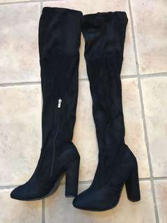 Size 6 - knee high boots (over the knee)