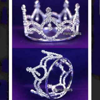 RTP: $20 😱 Crystal gem diamanté circle crown/ tiara