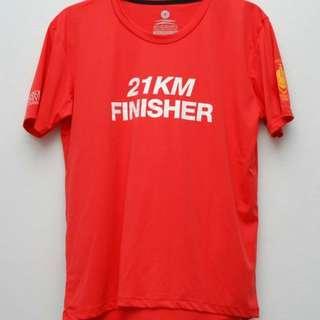 2nd Skin Cyberjaya Fire Fighter Night Half Marathon 2017 Finisher Running Tee