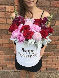 Large Customized Anniversary Flower Box