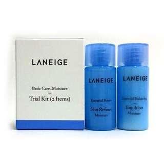 Laneige basic care moisture trial kit 2 items