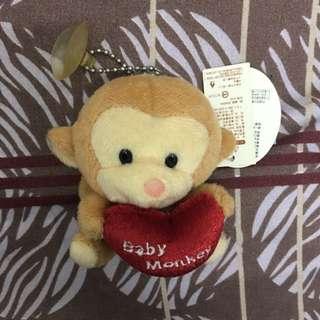愛心小猴子 玩偶 娃娃