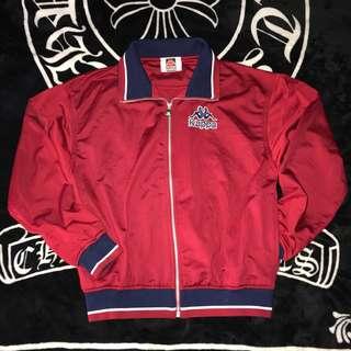 古著 日本 Kappa 電繡LOGO 復古 立領 棉質 學院風 休閒外套