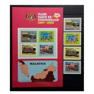 Malaysia 1982 25th Anniversary of Independence MNH FRESH!!