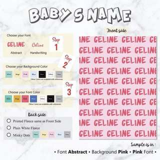 BABY BLANKET Personalised customised gift present fleece minky newborn
