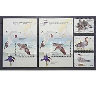 Malaysia 2005 migratory Birds STAMPS/MS MNH FRESH