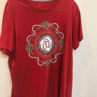 Rose adidas t恤