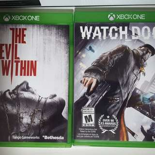 Xbox One Games (Watch Dogs / The Evil Within)