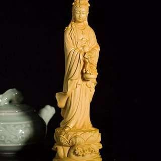 【禮贊精品文物館·提籃觀音】黃陽木提籃觀音木雕佛具典藏文物意境開運招財擺設居家生活美化環境