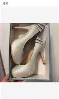 🚚 Diffeny 銀蔥高跟鞋/婚鞋/演奏鞋
