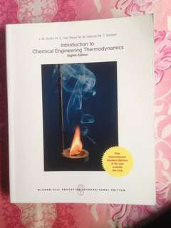 Introduction to chemical engineering thermodynamic , eighth edition