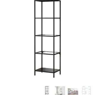 Ikea VITTSJO shelf glass metal