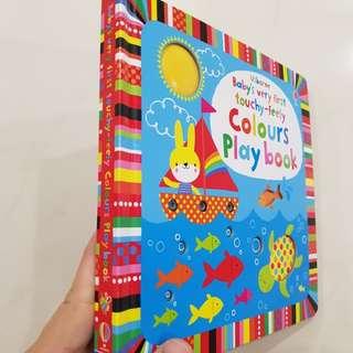 [Award Winner] Usborne BVF touchy feely colours play book