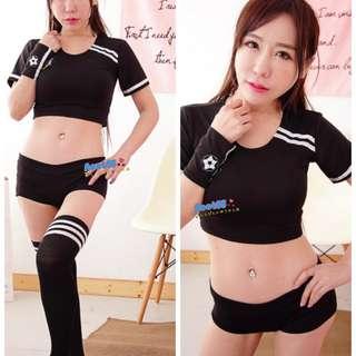 優-mi屋  黑色分體啦啦隊服