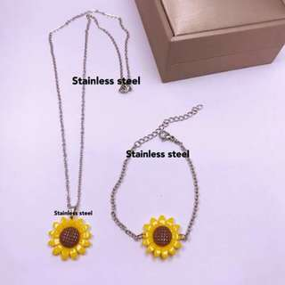 Sunflower Necklace & Bracelet
