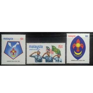 Malaysia 1974 Scout Jamboree MNH FRESH!!