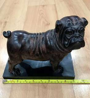 Vintage Antique Nice Wooden Caving Bull Dogs