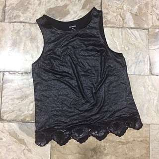 Express leather-like top