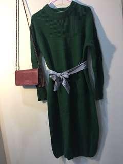 正韓長版針織毛衣