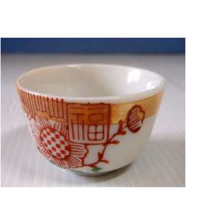 Antique Chinese wine teacup circa 1920s