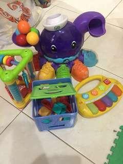 Kids Toy 1-3 (paket mainan 4, masih bagus banget, tinggal isi battery(