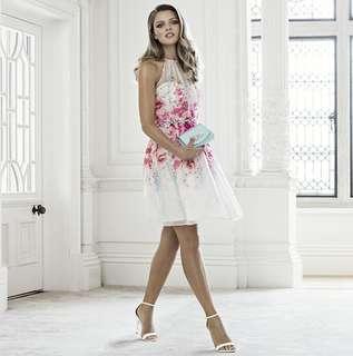 [FOREVER NEW] Kiara Printed Soft Prom Dress