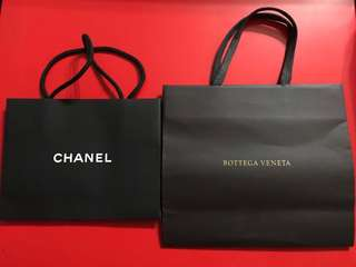 Authentic Paper Bag Bottega Veneta and Chanel