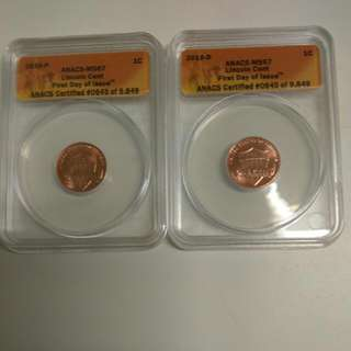 Lincoln cent 2010-P/2010-D