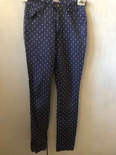 GORMAN Blue polka dot pants in sz 6