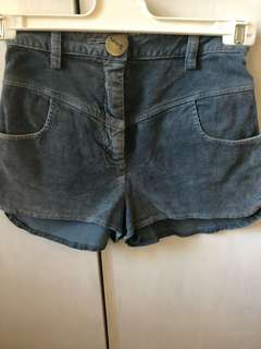 LOVER high-waisted corduroy shorts in sz 8!