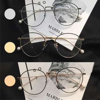 INSTOCK [round oval black rim] [gold, silver, rose gold] Korean spectacles Korean specs ulzzang fake specs spectacles frame no degree