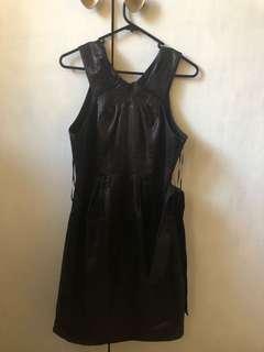 NICOLA FINETTI black cocktail dress sz 10