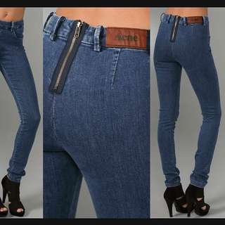 ACNE STUDIOS Blue denim (Skin Great) stretchy jeans - SZ 24