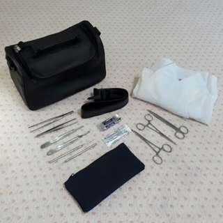 Bundle Surgical Set, Surgical Gown and Community Bag