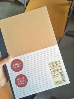 🍜 muji b5 notebooks