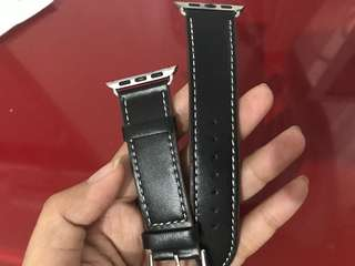 NEW - i watch black stripe genuine leather