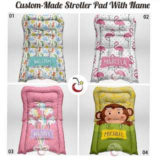 Custom-Made Stroller Seat Pads With Name