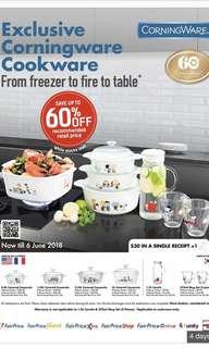 NTUC Bonus Points - Exclusive Corningware Cookware