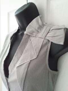RW&Co Sleeveless Blue Pinstripe Blouse
