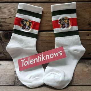Gucci Tiger Head Mid Socks
